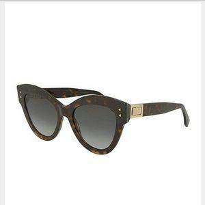 Fendi Brown Cat Eye Havana Sunglasses